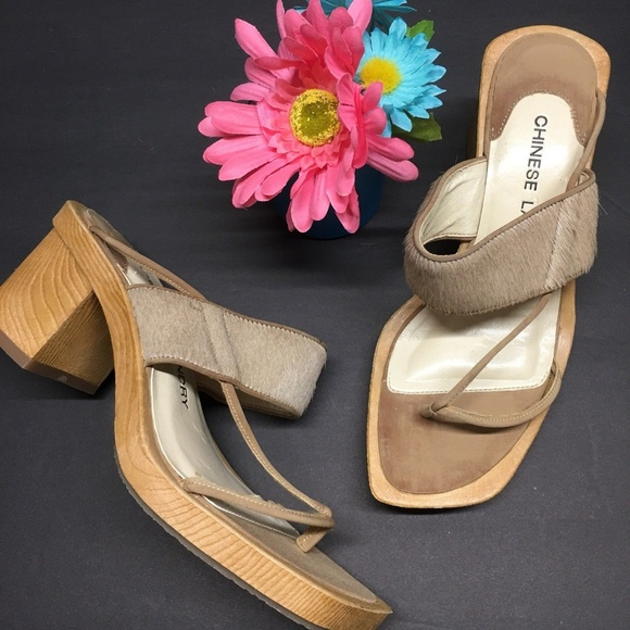 99ac5b8d2bb Chinese Laundry Miracle Pony Sandals Wood